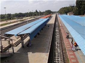 railway line inside a station