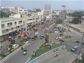 View of Rajvihar Center, one of the busiest centers in Kurnool City