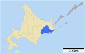 Location of Kushiro Subprefecture