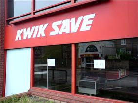 Closed branch of Kwik Save in Warrington, 13 July 2007