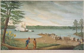 The Outaouaise being captured by the British in 1760 near Pointe au Baril