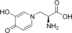 Structural formula of L-mimosine