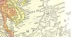 English Map of Southeast Asia,