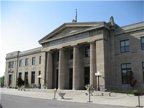 Exterior view of the Former Hamilton Railway Station