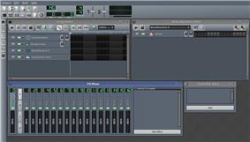 Screenshot of LMMS 1.0.0 after start up.