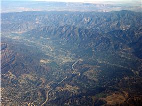 La Crescenta-Montrose from the air, looking North