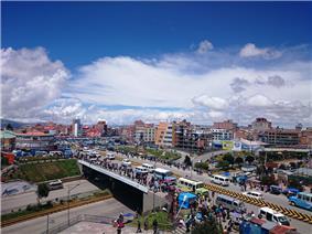 El Alto and Huayna Potosi mountain