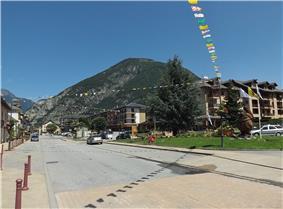 The road in the centre of La Chambre