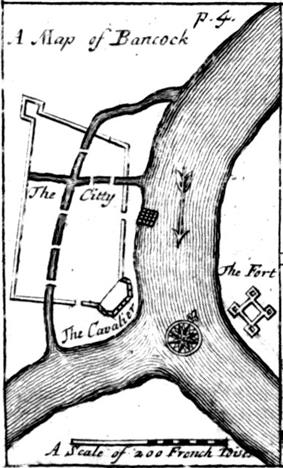 An engraved map titled
