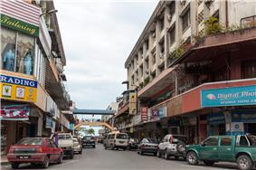 A view of Lahad Datu town.