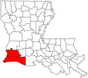Map of Lake Charles Metropolitan Area
