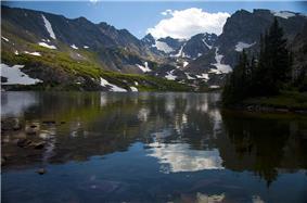 Mountains surrounding Lake Isabelle.