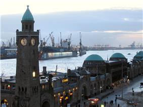 St. Pauli Piers and the port of Hamburg