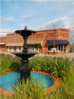 A fountain in Lanett