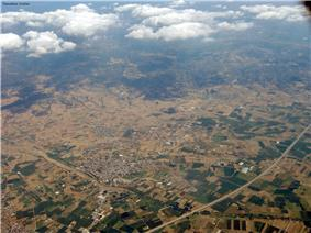 An aerial picture of Langadas.
