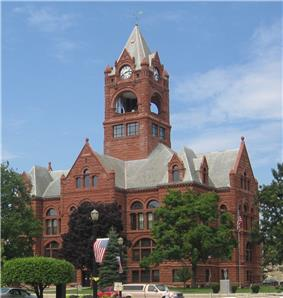 LaPorte County Courthouse in La Porte, Indiana