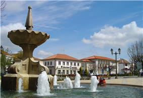 The main square in Mangualde, Largo Dr. Couto, location of the municipal authority