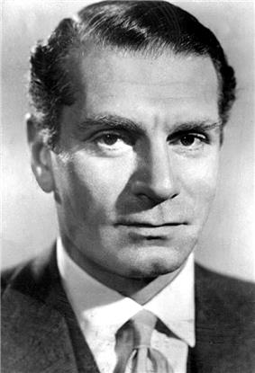 Black and white publicity photo of Laurence Olivier in 1961.