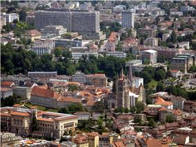Lausanne - Aerial view of Lausanne