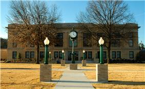 The LeFlore County Courthouse is one of five sites in Poteau listed on the National Register of Historic Places