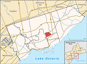 Location of Leaside in Toronto