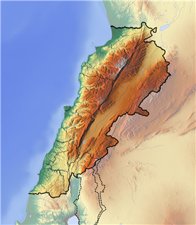 Near East earthquakes of 1759 is located in Lebanon