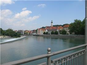 Lech River in Landsberg
