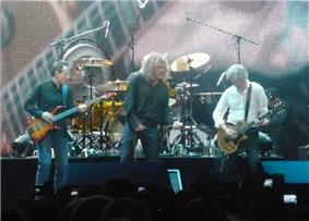 Led Zeppelin in 2007, left to right: John Paul Jones, Robert Plant, Jimmy Page