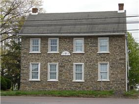 An old stone house in Lederach in Lower Salford Township