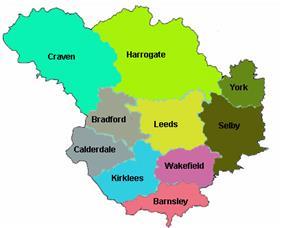 Location of Leeds City Region