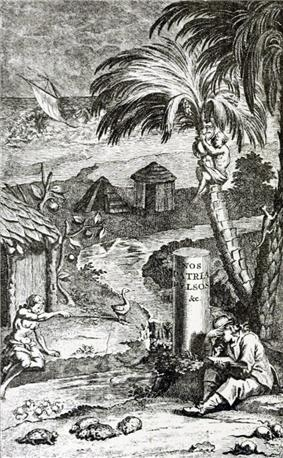 Drawing of houses on Rodrigues
