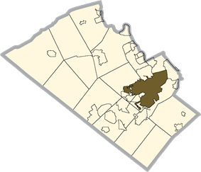 Location in Lehigh County