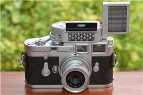 Leica M3 chrome Singlestroke with Leica-Meter M und Elmar f=5cm 2,8 M39.jpg