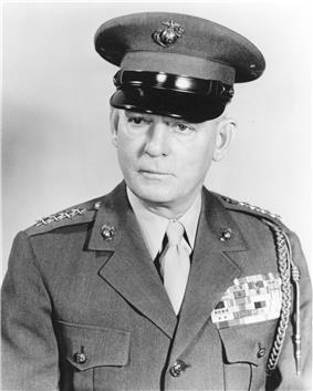 black & white photograph of Lemuel C. Shepherd, Jr.