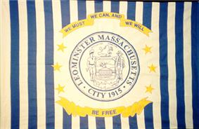 Flag of Leominster, Massachusetts