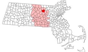 Location in Massachusetts