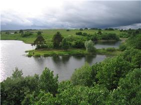 Landscape near Lepšiškiai