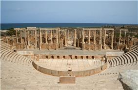 Leptis Magna to the east of Khoms