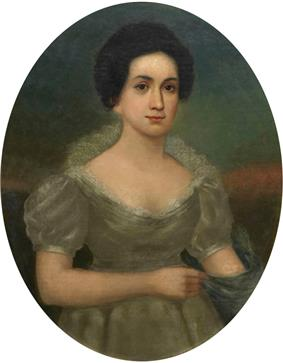 Portrait painting of Letitia Tyler