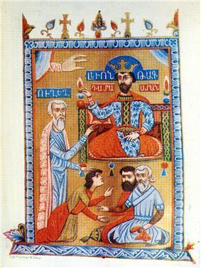 Leo IV dispensing justice