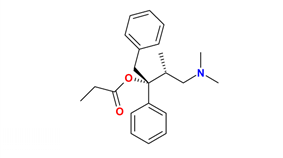 Chemical structure of Levopropoxyphene.