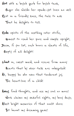 A Double Acrostic by Lewis Carroll