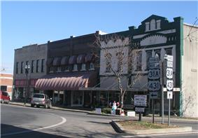 The town square in Lewisburg