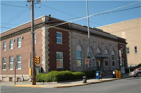 The post office in Lewistown
