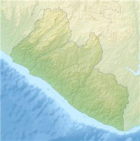 Map showing the location of Sapo National Park
