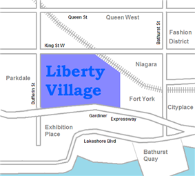 Vicinity of Liberty Village