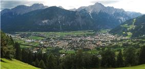 Lienz in the Drava valley, view from the north