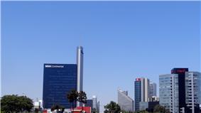 San Isidro skyline.