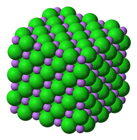 Unit cell model of lithium chloride
