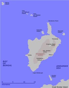 Map of Little Nicobar Island